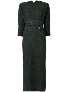 платье с поясом и необработанным подолом Daniela Gregis