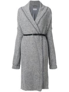 объемное пальто с поясом Humanoid