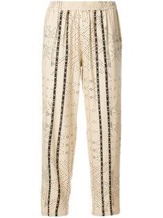 укороченные брюки с бусинами Mes Demoiselles