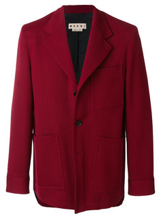 пиджак с накладными карманами Gabardine  Marni