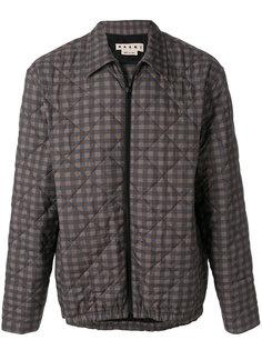 стеганая куртка в клетку Marni