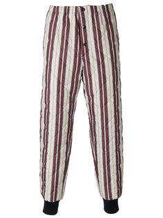 полосатые стеганые брюки Marni