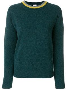 трикотажный свитер с контрастной горловиной  Paul Smith