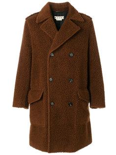 двубортное пальто Teddy bear Marni