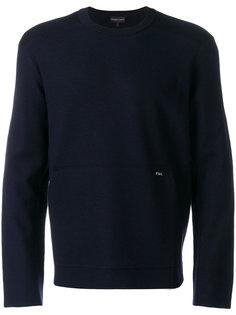 свитер с логотипом Emporio Armani