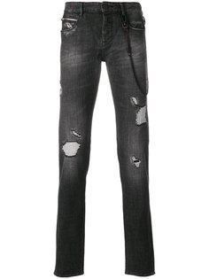 джинсы с потертой отделкой Emporio Armani