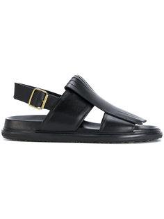 сандалии с бахромой Marni
