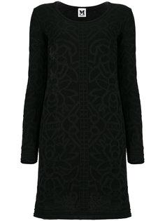 фактурное платье миди с узором  M Missoni
