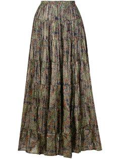 плиссированная юбка с цветочным принтом  Mes Demoiselles