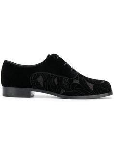 туфли на шнуровке с цветочными деталями Emporio Armani