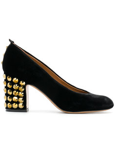 туфли-лодочки с заклепками на каблуке Emporio Armani