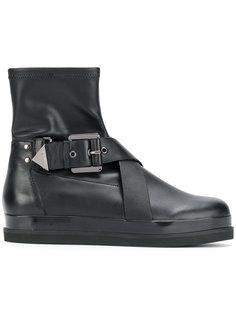 ботинки с пряжками Emporio Armani