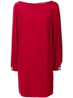 однотонное платье с длинными рукавами  Gianluca Capannolo