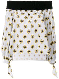 блузка с открытыми плечами с принтом Sara Roka