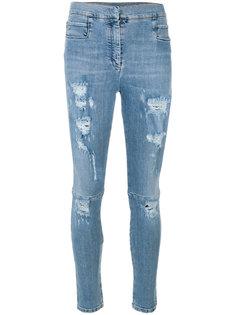 состаренные джинсы слим  Balmain