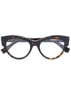 """очки в оправе """"кошачий глаз"""" с эффектом черепашьего панциря Fendi Eyewear"""