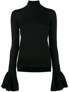 свитер-водолазка с рукавами клеш  Adam Lippes