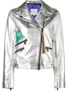 байкерская куртка металлик с принтом  Mira Mikati