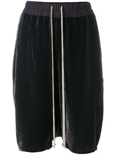 бархатные шорты со шнурком на талии Rick Owens