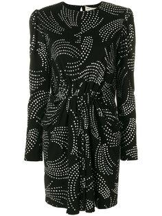 короткое платье с блестками Saint Laurent