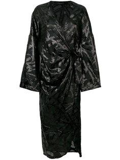 блестящее платье-кимоно с запахом Federica Tosi
