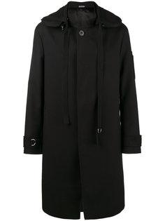 однобортное пальто с капюшоном Lanvin