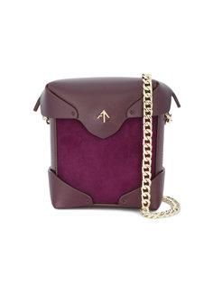 фиолетовая мини-сумка на плечо Pristine Manu Atelier