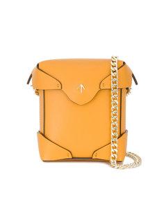 желтая квадратная микро-сумка Pristine Manu Atelier