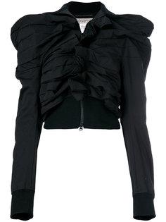 жакет с объемными плечами и складками Yohji Yamamoto