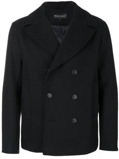 двубортная куртка Emporio Armani