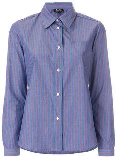 классическая рубашка в полоску  A.P.C.