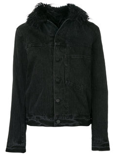 куртка с отделкой из искусственного меха Helmut Lang