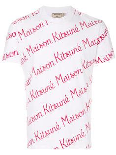 футболка с рисунком из логотипом Maison Kitsuné