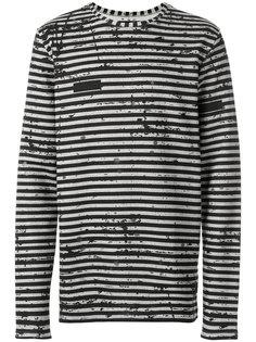 полосатый свитер с потертой отделкой Super Légère