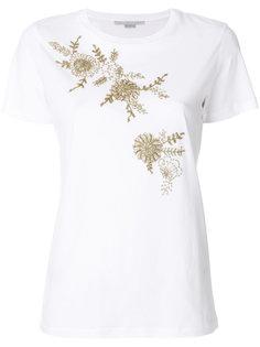 футболка с вышивкой бисером Stella McCartney
