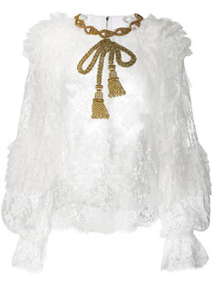 кружевная блузка с бантом Dolce & Gabbana