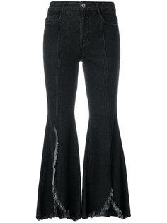 расклешенные джинсы с разрезами спереди Sjyp