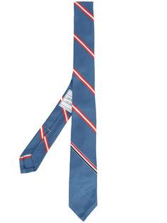 галстук  в диагональную полоску Thom Browne