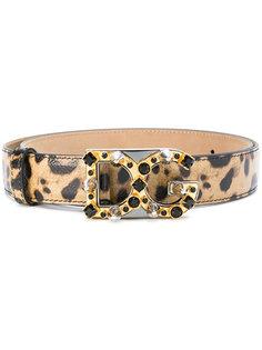 леопардовый ремень с логотипом Dolce & Gabbana