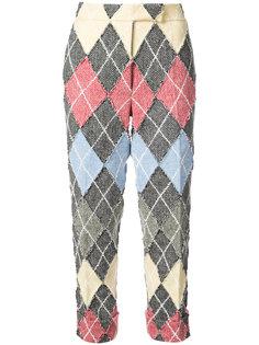 твидовые брюки в ромб Thom Browne