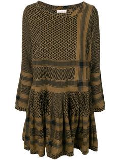расклешенное платье с узором Cecilie Copenhagen