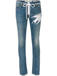джинсы с птицей  Off-White
