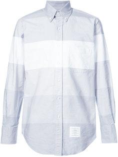 Classic Long Sleeve Shirt In Grey Multi Stripe Oxford Thom Browne