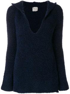 свитер с глубоким вырезом с капюшоном Forte Forte