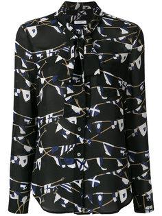 блузка с принтом и завязками Equipment
