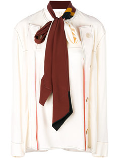 топ на пуговицах с шарфом  Marni