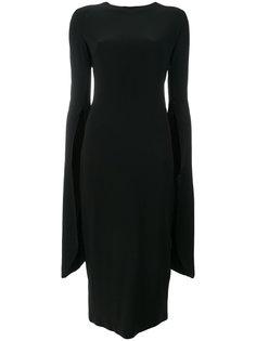 платье с асимметричными рукавами Norma Kamali