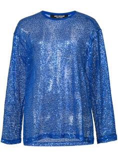 сетчатая блузка с пайетками Junya Watanabe Comme Des Garçons