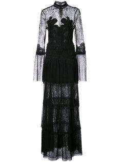 длинное платье с кружевной вставкой Jonathan Simkhai