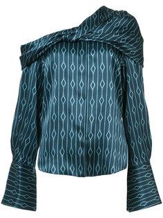 блузка с открытым плечом Hellessy